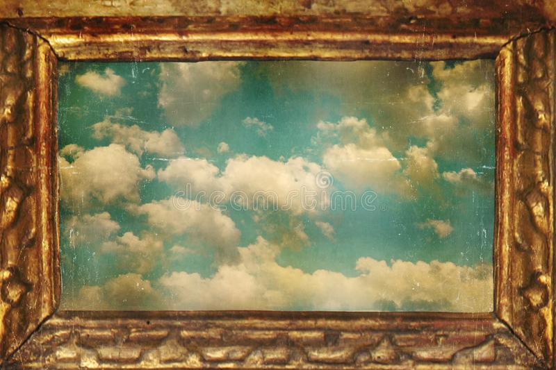 Frame hemel royalty-vrije illustratie