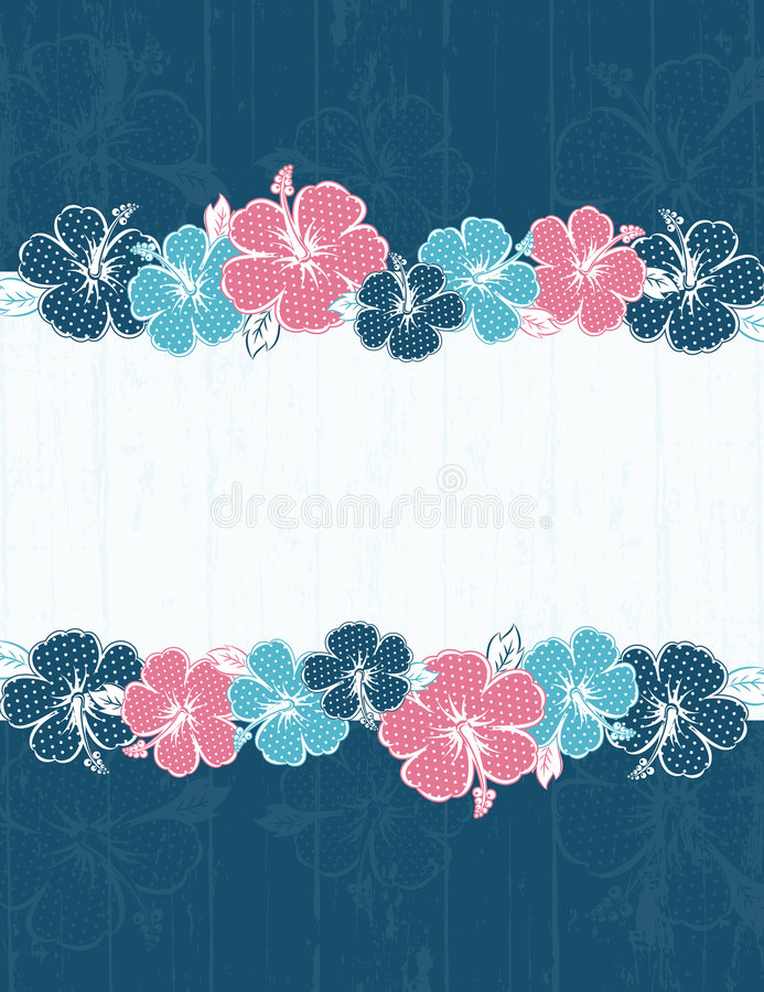 Download Frame of hibiscus, vector stock vector. Image of detail - 5260544