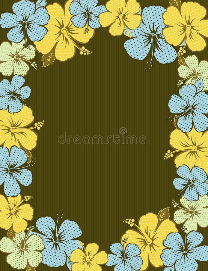 Download Frame of hibiscus, vector stock vector. Image of decorative - 6239638