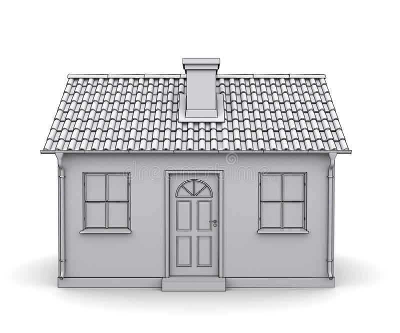 Frame house 3d model stock illustration. Illustration of plan - 23993789
