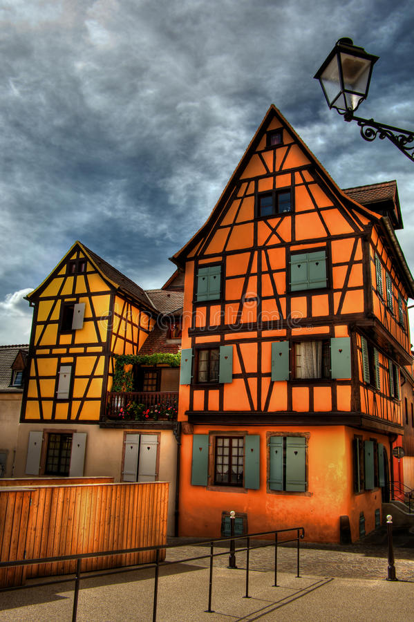 Frame Houses HDR royalty free stock images
