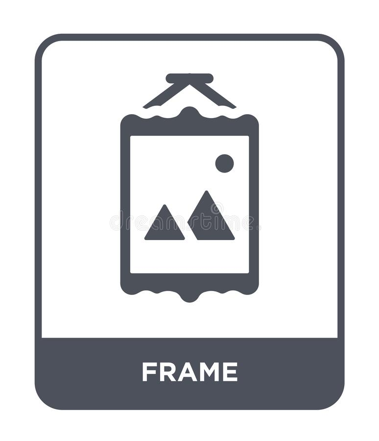 frame icon in trendy design style. frame icon isolated on white background. frame vector icon simple and modern flat symbol for stock illustration