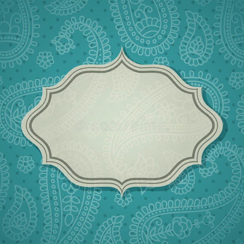 Download Frame in the Indian style stock vector. Image of illustration - 25517634