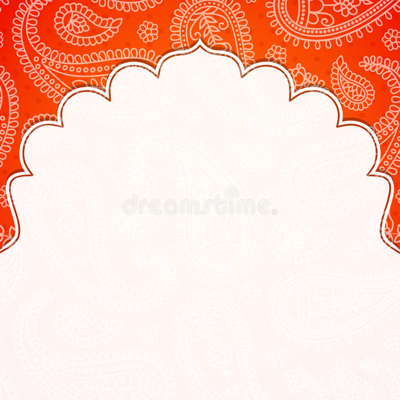Frame in the Indian style stock vector. Illustration of border ...