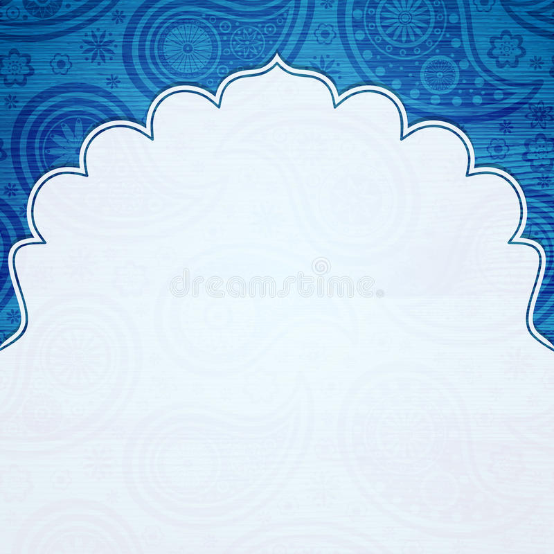 Frame in the Indian style stock illustration