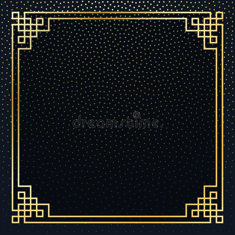 The Frame with infinity symbol. Vector illustration. stock photos