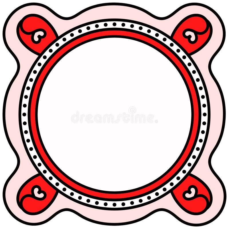 Frame invitation card border flower hearts royalty free illustration