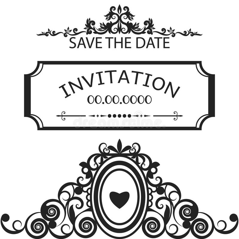 Frame For Invitation, Wedding, Save The Date Vector Stock Vector ...