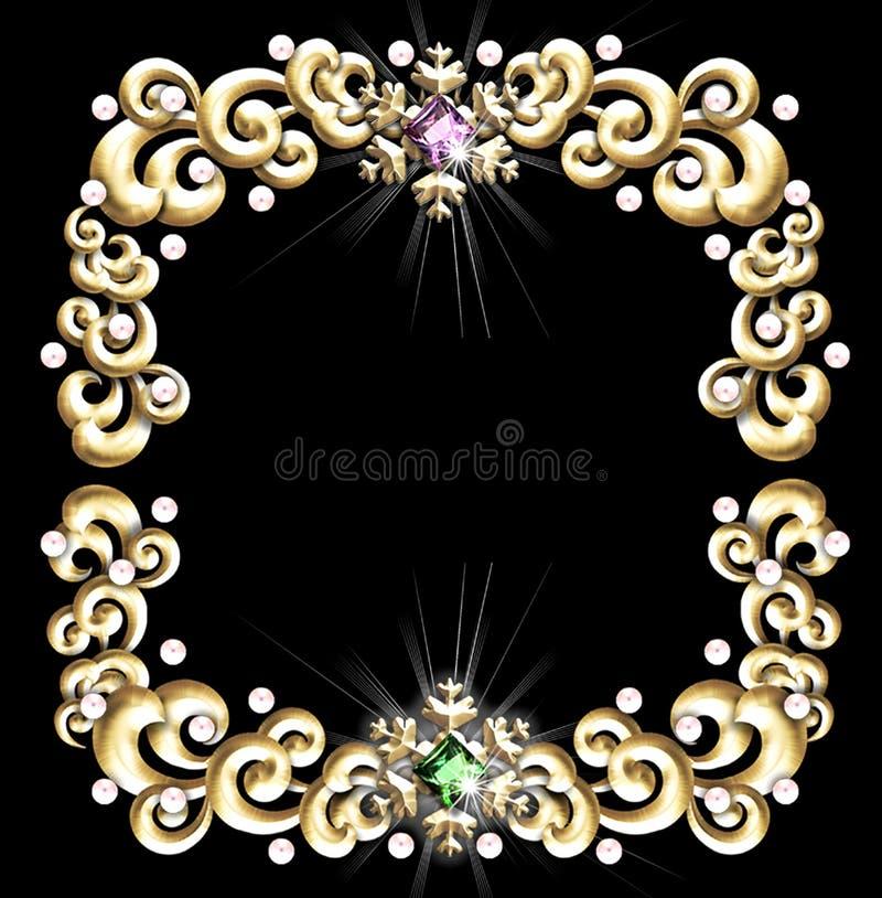 Download Frame Jeweled do inverno ilustração stock. Ilustração de borda - 527870