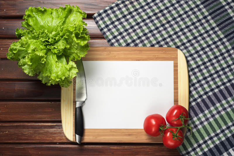 Frame of kitchen accessories for menu. Frame of kitchen accessories for the menu stock photo