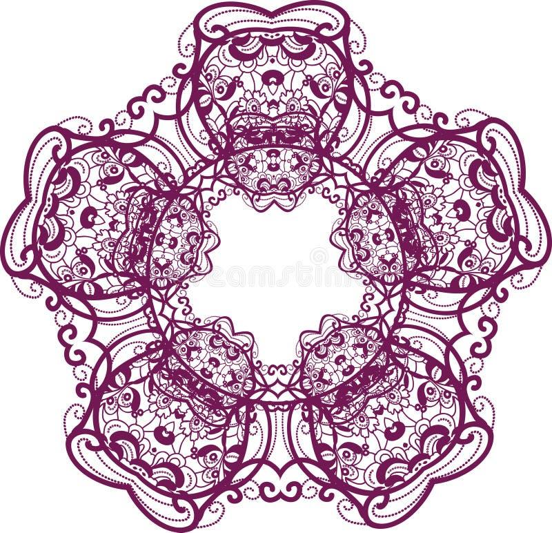 Download Frame lace-like stock illustration. Illustration of paper - 23593972