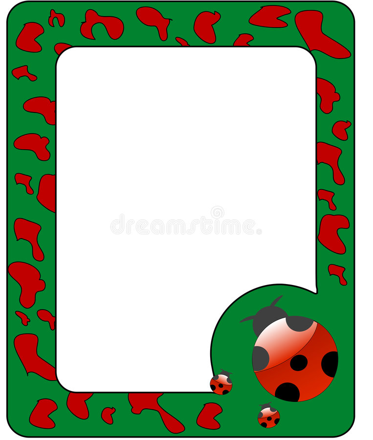 Download Frame With Ladybird. Stock Photos - Image: 8599913