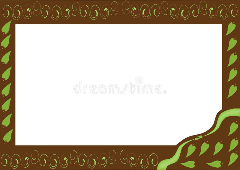 Download Frame with leaves stock vector. Illustration of brown - 7114644