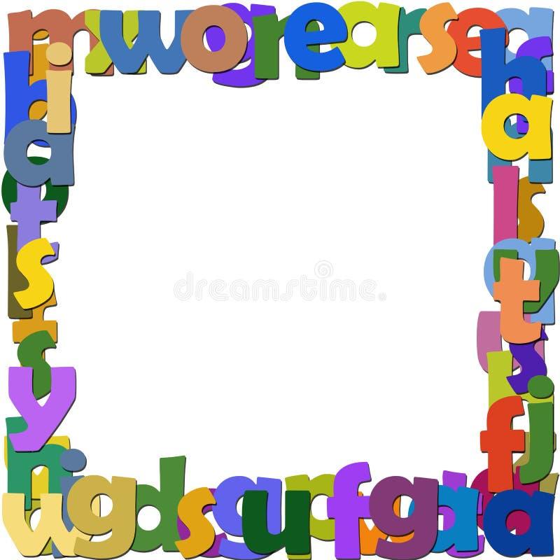 Frame letters stock illustration. Illustration of paint - 17780793