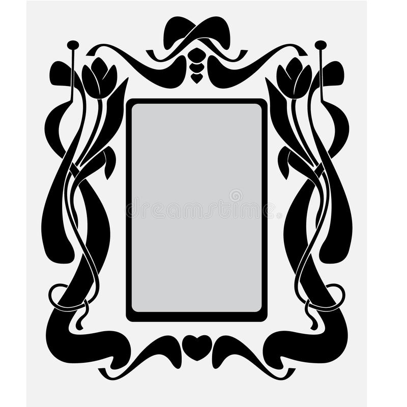 Frame like Art-Nouveau stock illustration
