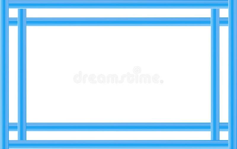 Download Frame Line Blue Simple Straight Lines Base Web Design Postcard Stock Illustration