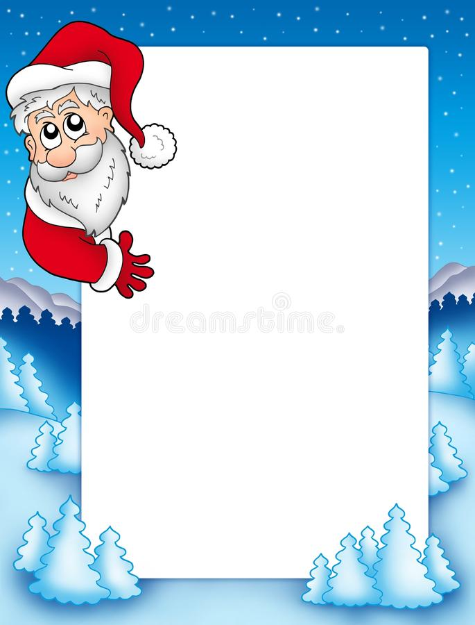 Download Frame With Lurking Santa Claus 2 Stock Illustration - Image: 11179562