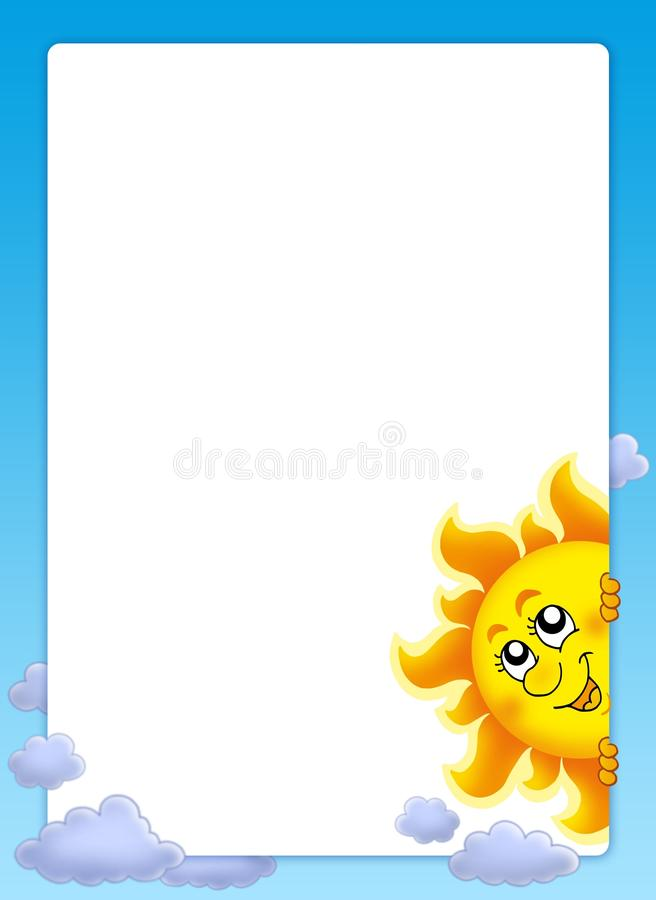 Download Frame with lurking Sun stock illustration. Image of emotions - 9653853