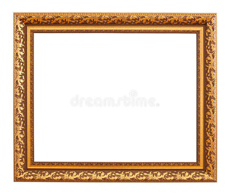 Frame luxuoso do ouro imagens de stock