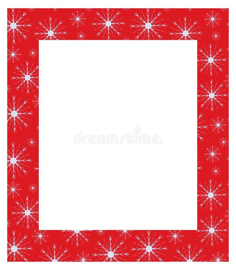 Frame mágico azul do Natal ilustração stock