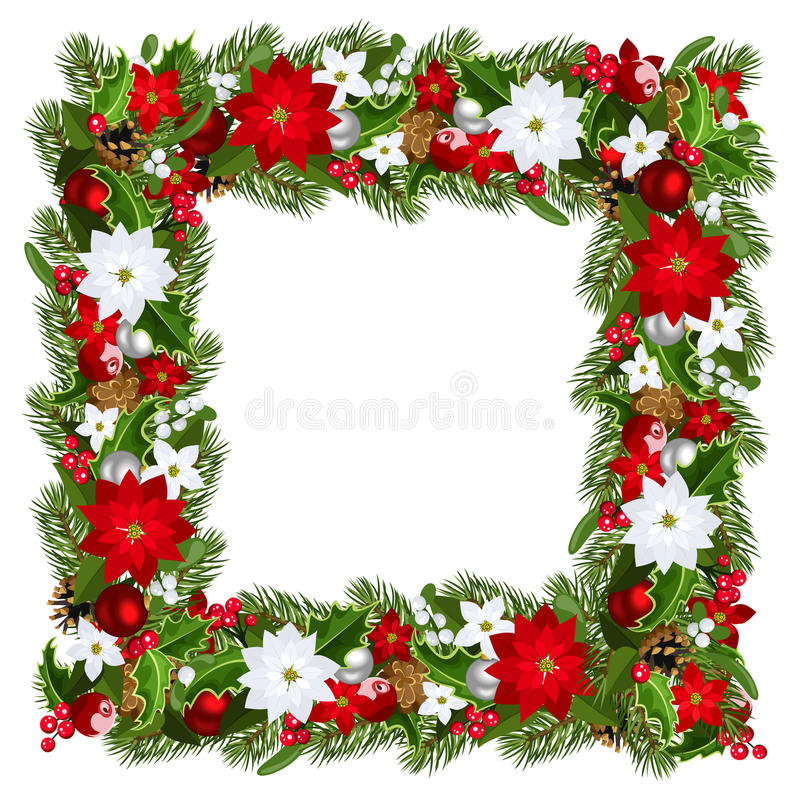 Frame mágico azul do Natal Ilustração do vetor ilustração do vetor