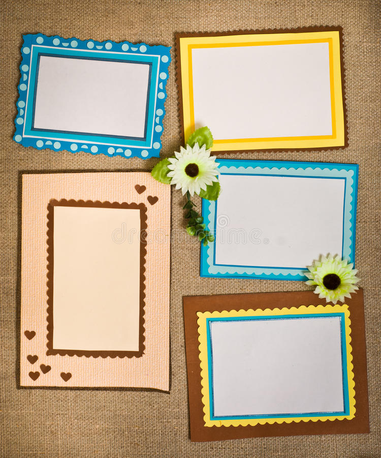 Frame made of paper stock image. Image of edge, color - 24182469