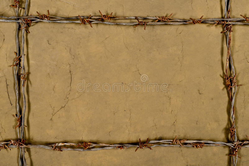 Frame Made Of Barbed Wire Stock Photo - Image: 62754427