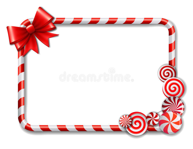 Frame made of candy cane stock illustration