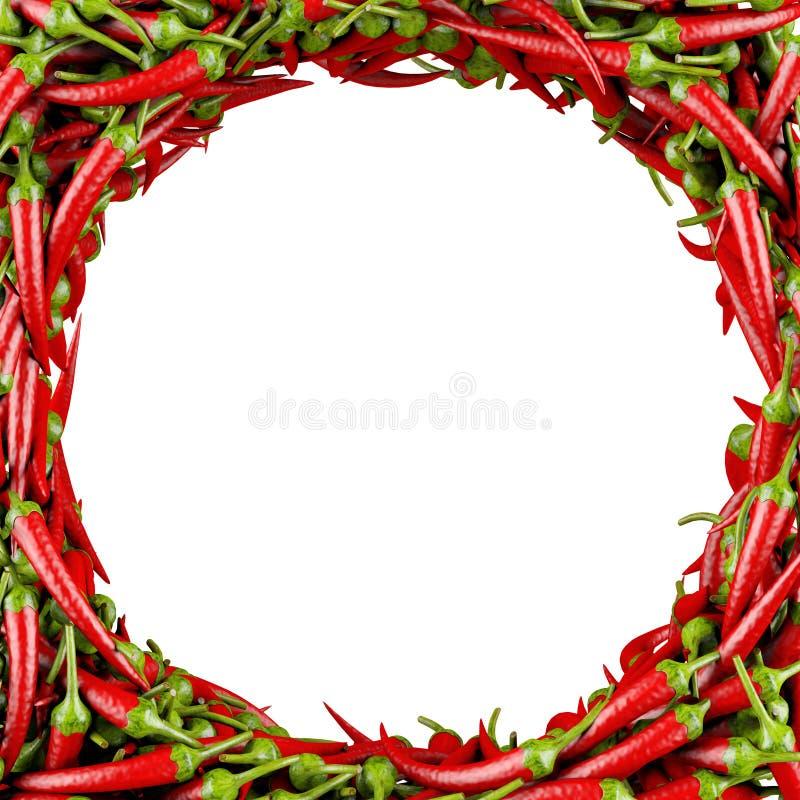 Frame made of Chili Pepper stock illustration
