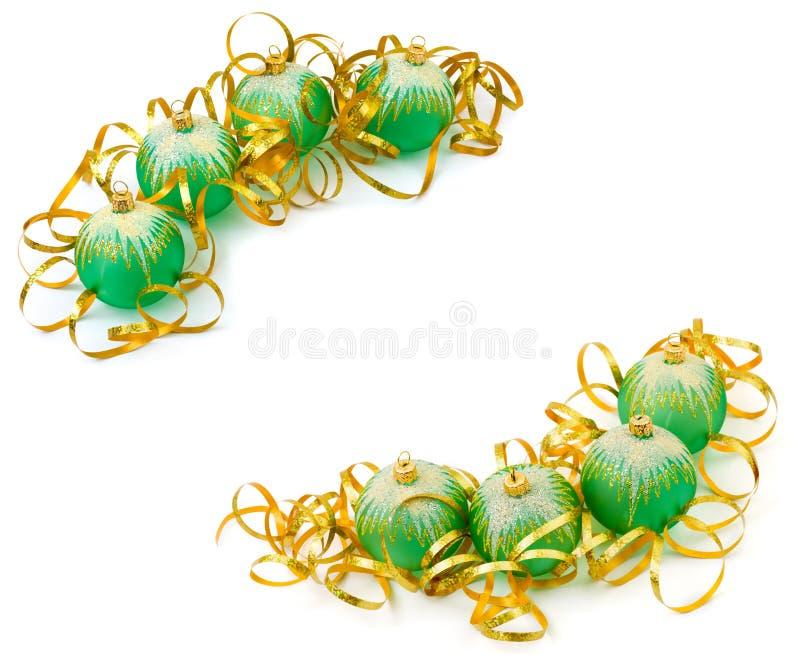 Download Frame Made Of Christmas Balls Stock Image - Image: 11938409