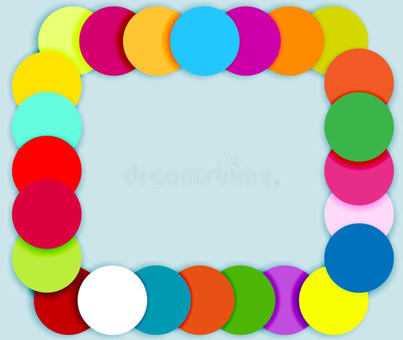 Frame made of color circles stock illustration