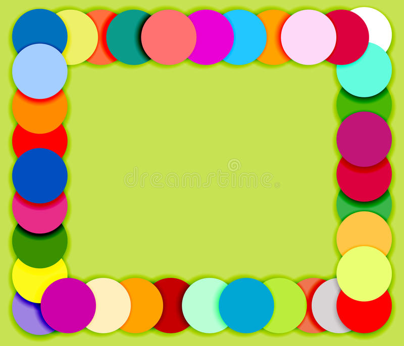 Frame made of color circles 2 stock illustration