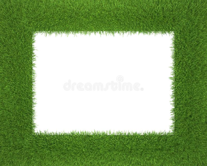 Download Frame Made Of Grass Isolated On White Background Stock Illustration - Image: 23945786