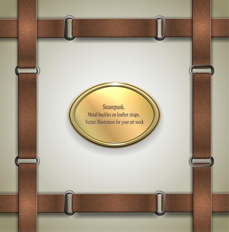 Brown Airplane Emblem Set: Vector Steampunk Labels Set Stock Vector