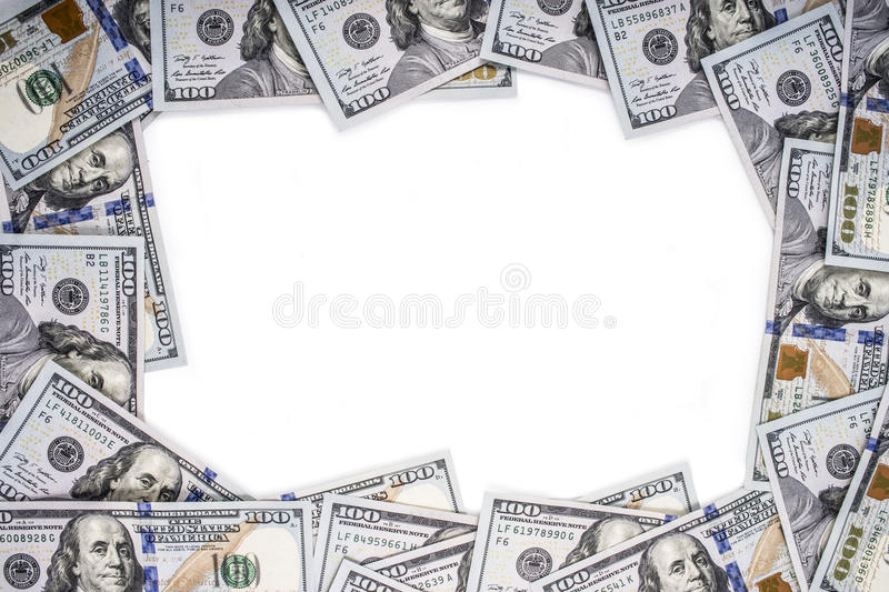 Frame made of money royalty free stock photography