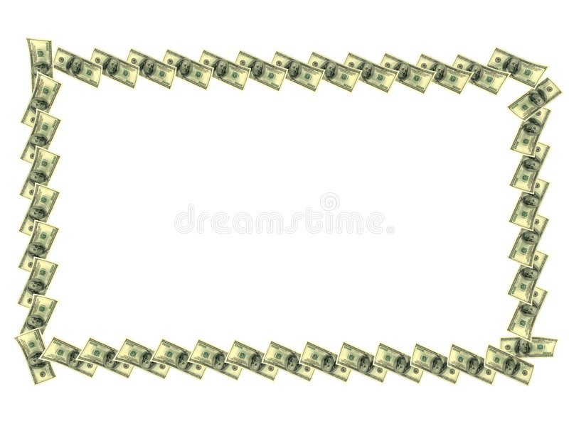 Download Frame made out of dollars stock illustration. Image of greenback - 6963253
