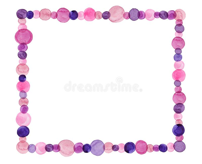 Frame Made Of Dots stock photography