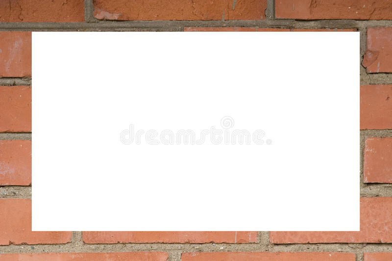 Download Frame Made Of A Red Brick Wall Royalty Free Stock Images - Image: 10984579