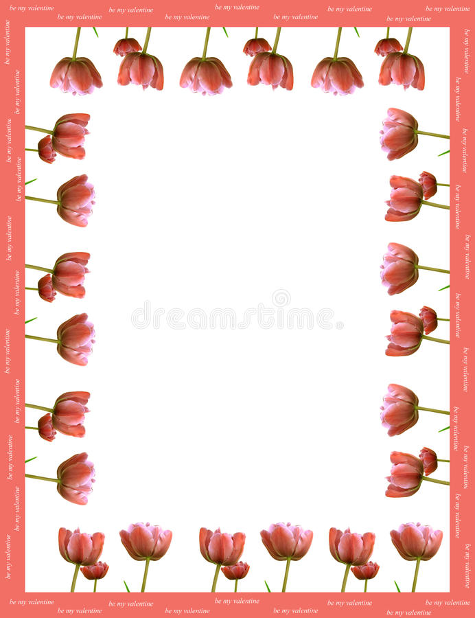 Download Frame Made From Red Tulips Royalty Free Stock Images - Image: 12643269
