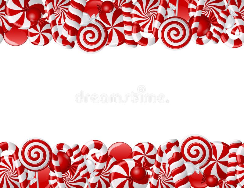Download Frame Made Of Red And White Candies Stock Vector - Image: 22707187