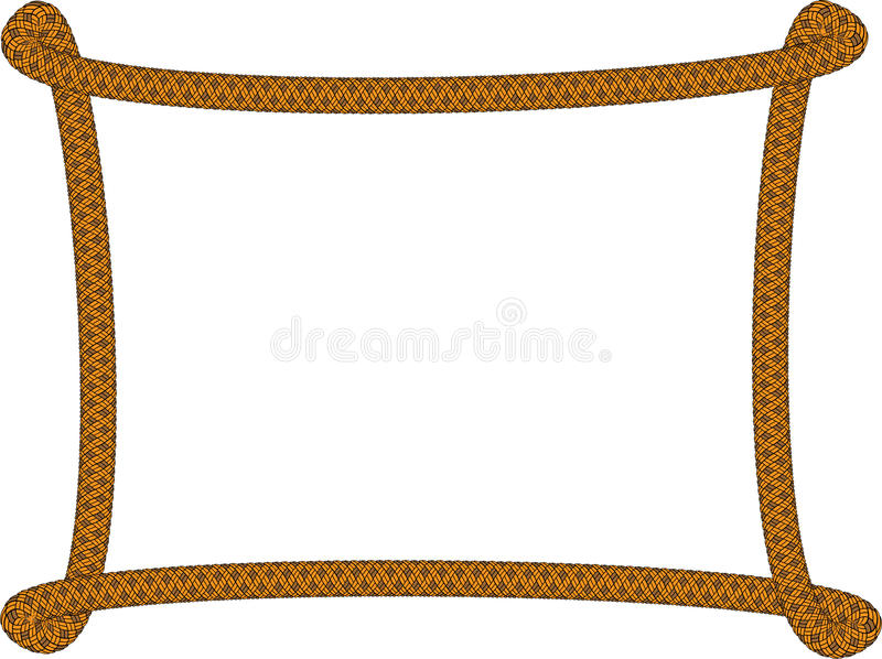 Frame made of rope,vector royalty free illustration