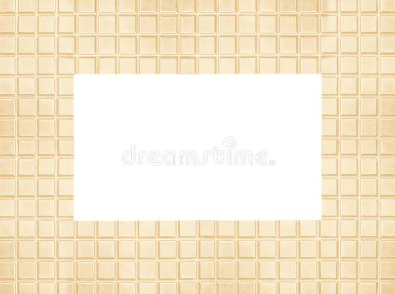 Frame made of tasty chocolate on background, space for text stock images
