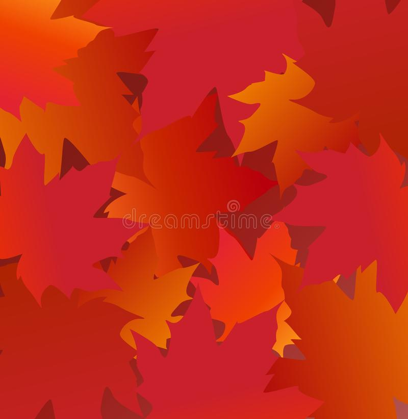 Frame with Maple leaves stock photo