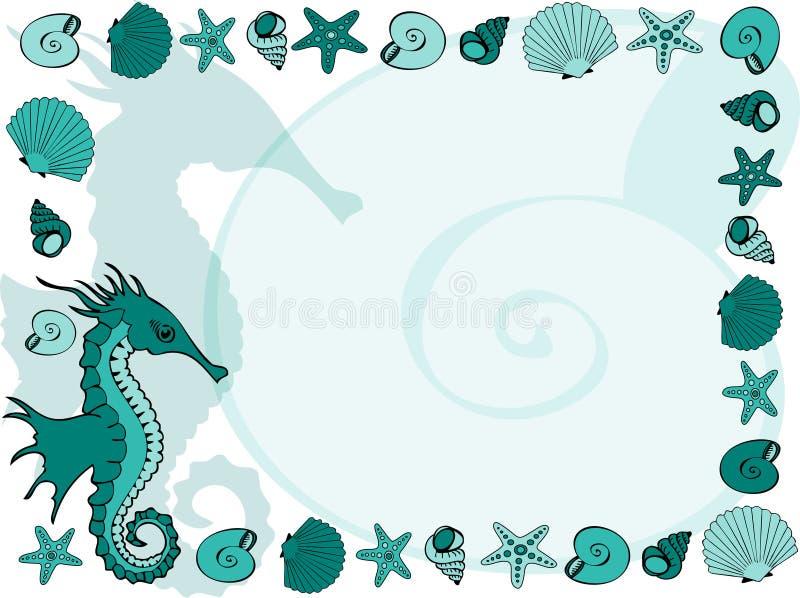 Frame marinho ilustração stock