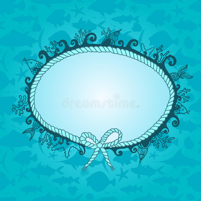 Download Frame in maritime style stock vector. Illustration of fantasy - 24966016