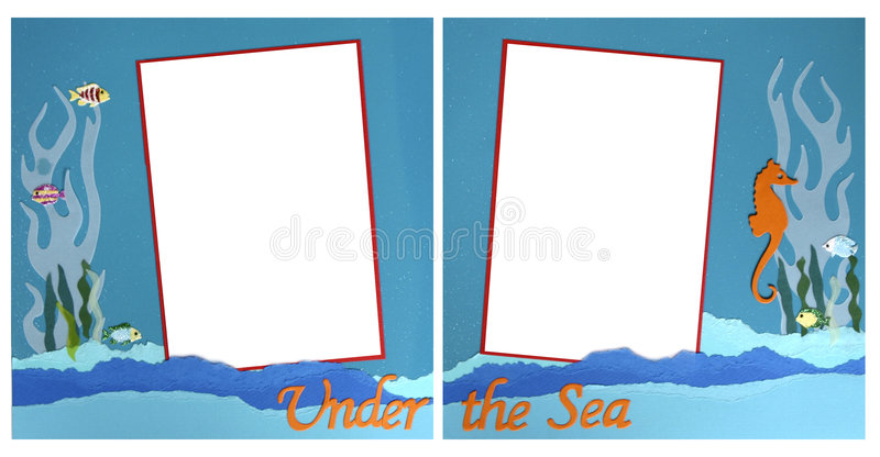frame mermaid scrapbook template theme ελεύθερη απεικόνιση δικαιώματος