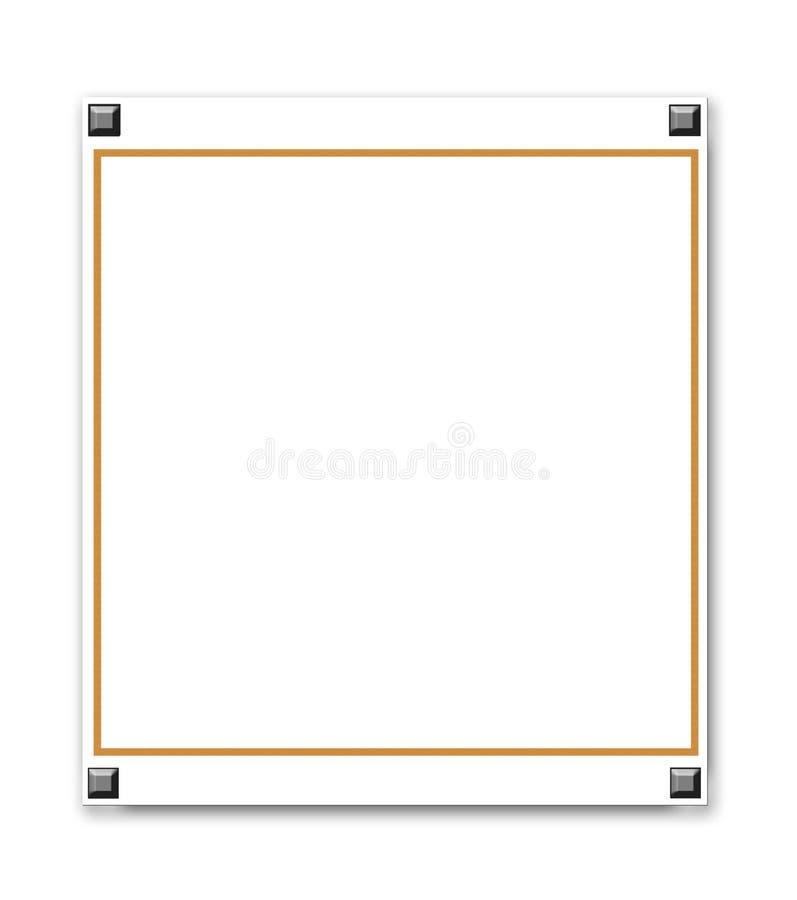 Frame metálico da beira ilustração royalty free