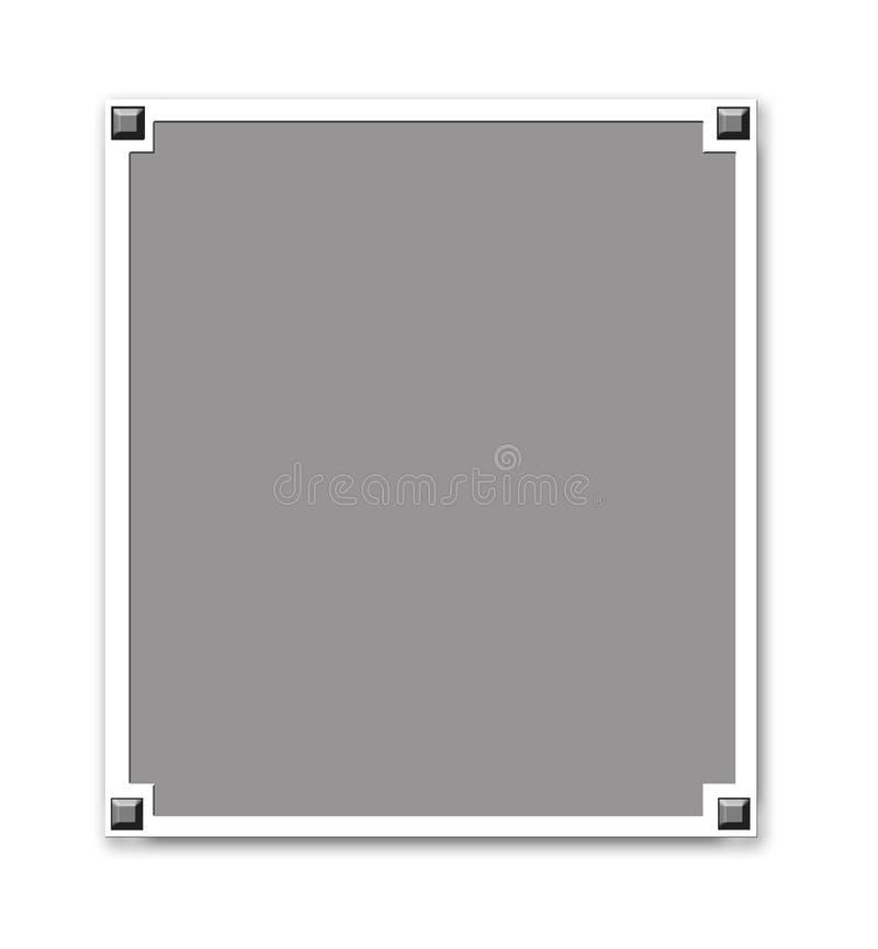 Frame metálico da beira ilustração do vetor