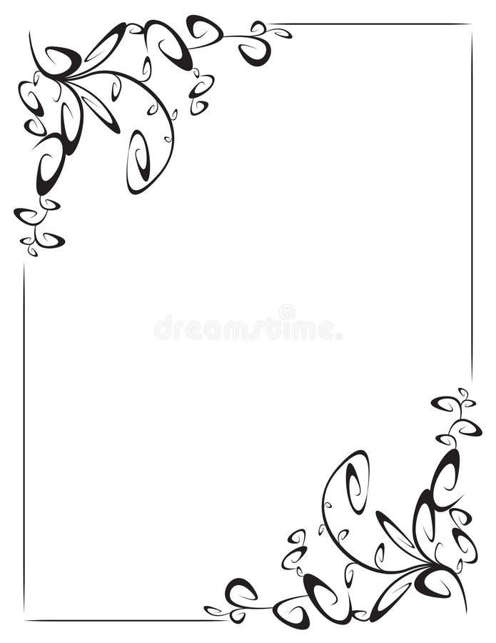 Frame met 2 hoekdecoratie stock illustratie