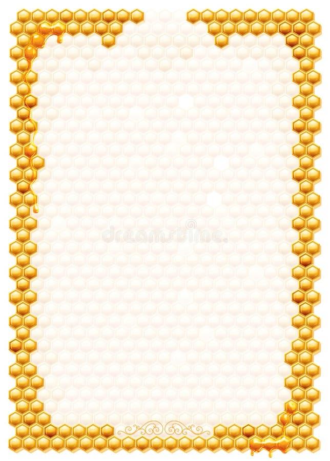 Frame met bijenhoningraten royalty-vrije illustratie